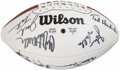 Football Collectibles:Balls, 1997 Oakland Raiders Super Bowl XI Reunion Multi-Signed Football....