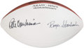 """Football Collectibles:Balls, Pete Dawkins and Roger Staubach """"Army-Navy Heisman Winners"""" Signed Football. ..."""