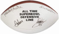 Football Collectibles:Balls, All Time Super Bowl Defensive Line Multi-Signed Football....