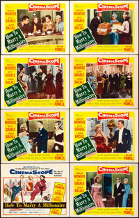 """How to Marry a Millionaire (20th Century Fox, 1953). Lobby Card Set of 8 (11"""" X 14""""). Comedy. ... (Total: 8 It..."""