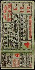 Baseball Collectibles:Tickets, 1929 World Series Game 4 Ticket Stub....