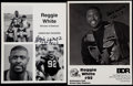 Football Collectibles:Photos, Reggie White Signed Photograph and Facsimile Signed Photograph....