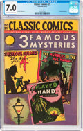 Golden Age (1938-1955):Horror, Classic Comics #21 3 Famous Mysteries HRN 22 (Gilberton, 1944) CGCFN/VF 7.0 Off-white to white pages....