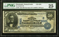 National Bank Notes:Pennsylvania, Pittsburgh, PA - $50 1902 Date Back Fr. 667 The Mellon NB Ch. #(E)6301. ...