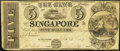 Obsoletes By State:Michigan, Singapore, MI- Bank of Singapore $5 Dec. 25, 1837...