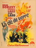 """Movie Posters:Film Noir, The Glass Key (Paramount, 1948). First Post War Release FrenchAffiche (23.5"""" X 31.25"""").. ..."""