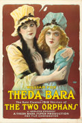 "Movie Posters:Drama, The Two Orphans (Fox, R-1918). One Sheet (27"" X 41"") Style B.. ..."