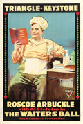 "Movie Posters:Comedy, The Waiter's Ball (Triangle-Keystone, 1916). One Sheet (28"" X41.5"").. ..."
