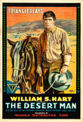 "Movie Posters:Western, The Desert Man (Triangle, 1917). One Sheet (28"" X 41"").. ..."