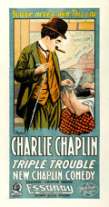 """Movie Posters:Comedy, Triple Trouble (Essanay, 1918). Three Sheet (42"""" X 80"""").. ..."""