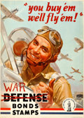 """Movie Posters:War, World War II Propaganda (U.S. Government Printing Office, 1942).Defense Bonds Stamps Poster (20"""" X 28"""") """"You Buy 'Em We'll ..."""