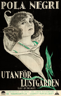 "Lily of the Dust (Paramount, 1925). Swedish One Sheet (22.5"" X 35.5"")"