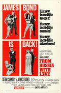 "Movie Posters:James Bond, From Russia with Love (United Artists, 1964). One Sheet (27"" X 41"")Flat Folded Style B. James Bond.. ..."