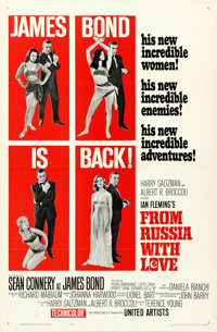 """From Russia with Love (United Artists, 1964). One Sheet (27"""" X 41"""") Flat Folded Style B. James Bond"""