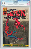 Silver Age (1956-1969):Superhero, Daredevil #16 (Marvel, 1966) CGC VF- 7.5 Off-white to white pages....