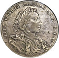 Russia: Peter I Rouble 1710-H F15 NGC