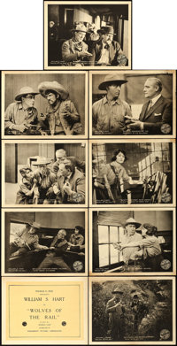 """Wolves of the Rail (Artcraft, 1918). Lobby Card Set of 9 (11"""" X 14""""). ... (Total: 9 Items)"""