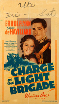 """The Charge of the Light Brigade (Warner Brothers, 1936). Linen Finish Midget Window Card (8"""" X 14"""")"""