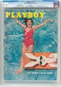 Magazines:Vintage, Playboy V3#6 Newsstand Edition (HMH Publishing, 1956) CGC NM 9.4 White pages....