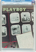 Magazines:Vintage, Playboy V3#9 Newsstand Edition (HMH Publishing, 1956) CGC NM- 9.2 White pages....