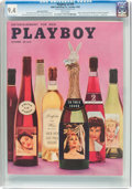 Magazines:Vintage, Playboy V5#10 Newsstand Edition (HMH Publishing, 1958) CGC NM 9.4 White pages....
