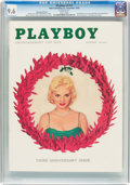 Magazines:Vintage, Playboy V3#12 (HMH Publishing, 1956) CGC NM+ 9.6 White pages....
