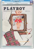 Magazines:Vintage, Playboy V3#1 Newsstand Edition (HMH Publishing, 1956) CGC NM 9.4 White pages....