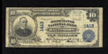 National Bank Notes:Maryland, Baltimore, MD - $10 1902 Plain Back Fr. 632 The Merchants NB Ch. #1413. Printed signatures of Sam'l W. Tschudi and Mart...