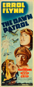 "Movie Posters:War, The Dawn Patrol (Warner Brothers, 1938). Insert (14"" X 36"").. ..."