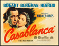 "Movie Posters:Academy Award Winners, Casablanca (Warner Brothers, 1942). Title Lobby Card (11"" X 14"")....."