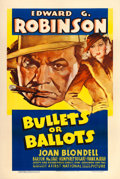 "Movie Posters:Crime, Bullets or Ballots (Warner Brothers, 1936). One Sheet (27"" X 41"")....."
