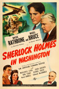 "Movie Posters:Mystery, Sherlock Holmes in Washington (Universal, 1943). One Sheet (27"" X 41"").. ..."