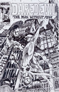 Original Comic Art:Covers, Ollie Drac Daredevil #217 Cover Recreation Original Art(2003)....