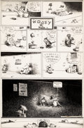 Original Comic Art:Comic Strip Art, George Herriman Krazy Kat Sunday Comic Strip Original Art dated 11-2-41 (King Features Syndicate, 1941)....