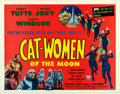 "Movie Posters:Science Fiction, Cat-Women of the Moon (Astor Pictures, 1954). Half Sheet (22"" X28"").. ..."