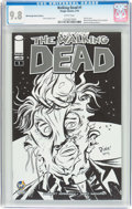 Modern Age (1980-Present):Horror, Walking Dead #1 Wizard World Raleigh Sketch Edition (Image, 2015)CGC NM/MT 9.8 White pages....