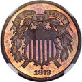 Proof Two Cent Pieces, 1872 2C PR66 Red and Brown NGC. CAC....