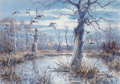 Works on Paper, Herb Booth (American, b. 1942). Deep Woods Refuge. Watercolor on paper. 28-1/2 x 40-1/2 inches (72.4 x 102.9 cm) (sight)...