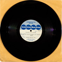 """Diamonds are Forever (United Artists Music Group, 1971). 45 RPM Acetate Record (10"""" X 10""""). James Bond"""