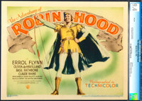"""The Adventures of Robin Hood (Warner Brothers, 1938). CGC Graded Linen Finish Title Lobby Card (11"""" X 14"""")..."""