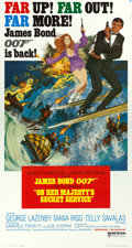 "Movie Posters:James Bond, On Her Majesty's Secret Service (United Artists, 1970). Three Sheet(41"" X 79"").. ..."