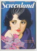 Magazines:Miscellaneous, Screenland Bound Volume (Magazine Builders, 1928) Condition: VF....