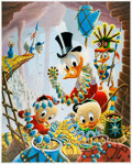 Memorabilia:Disney, Carl Barks First National Bank of Cibola Regular Edition Lithograph #223/345 (Another Rainbow, 1987).... (Total: 2 Items)