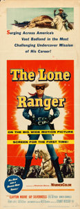 "Movie Posters:Western, The Lone Ranger (Warner Brothers, 1956). Insert (14"" X 36"").. ..."