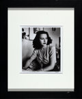 "Movie Posters:Miscellaneous, Hedy Lamarr by Alfred Eisenstaedt (c.1994). Signed Photo (Photo:10"" X 11.5"", Frame: 19"" X 23"").. ..."