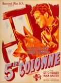 "Movie Posters:Hitchcock, Saboteur (Universal, Late-1940s). First Post-War French Affiche(23.5"" X 31.75"").. ..."