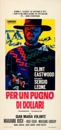 "Movie Posters:Western, A Fistful of Dollars (Unidis, R-1968). Italian Locandina (13"" X 27.75"").. ..."