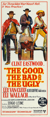 "The Good, the Bad and the Ugly (United Artists, 1969). Australian Post-War Daybill (13"" X 30"")"