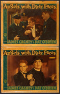 "Movie Posters:Crime, Angels with Dirty Faces (Warner Brothers, 1938). Linen Finish LobbyCards (2) (11"" X 14"").. ... (Total: 2 Items)"