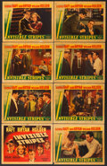 "Movie Posters:Crime, Invisible Stripes (Warner Brothers, 1939). Linen Finish Lobby CardSet of 8 (11"" X 14"").. ... (Total: 8 Items)"
